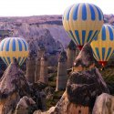 Hot Air Balloon Rides Over The Rock Formations
