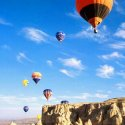 Multiple Hot Air Balloons In Flight